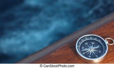 scheeps , verhuizing, zee, kompas
