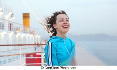 scheeps , vrouw, zee, cruise