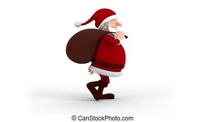 schenking zak, claus, wandelende, kerstman
