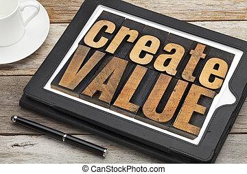 scheppen, waarde, tablet, digitale