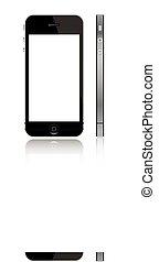 scherm, 5, witte , iphone