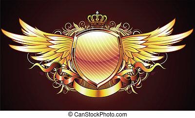 schild, gouden, heraldisch