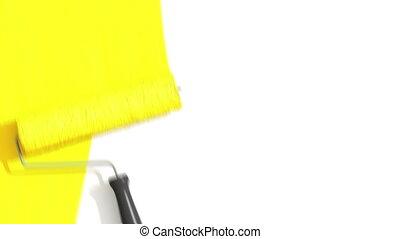 schilderij, rol, gele, color.