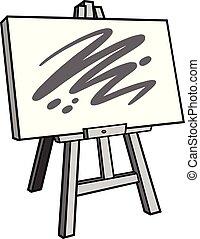schildersezel, kunst, illustratie