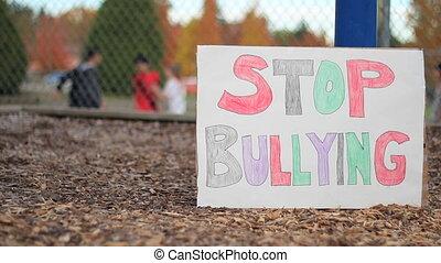 scholieren, bullying, een ander, student