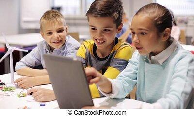 school geitjes, tablet, robotics, programmering, pc