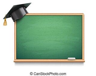 school, pet, plank, afgestudeerd