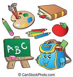 school, stripfiguren, verzameling