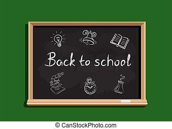 school, tekst, back, bord
