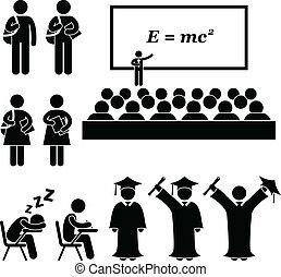 school, universiteit, universiteit student