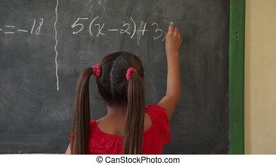 school, vrouwelijk kind, het glimlachen, opleiding, kinderen