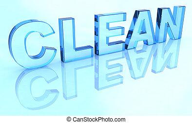 schoonmaken, meldingsbord, kristal