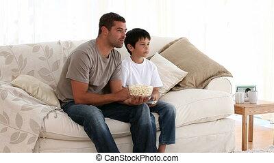 schouwend, zoon, vader, film