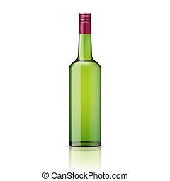 schroef, cap., fles, glas, whisky