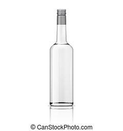 schroef, wodka, cap., fles, glas
