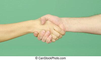 schuddende hand