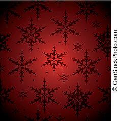 seamless, achtergrond, sneeuwvlok