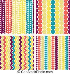 seamless, geometrisch patroon, retro