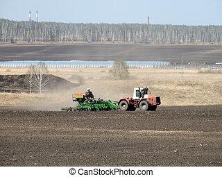 seeder, lente, tractor
