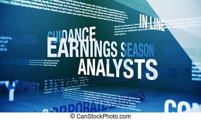 seizoen, termijnen, inkomsten, verwant