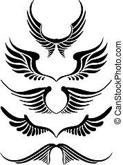 set, abstract, vector, vleugel