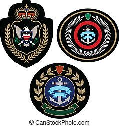 set, badge, avontuur