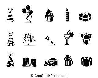 set, black , jarig, pictogram
