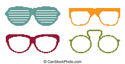 set, bril, zon, pixel
