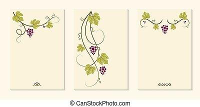 set., communie, druif, wijngaarden