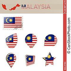 set, de vlag van maleisië, set, #170