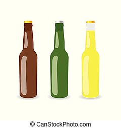 set, fles, illustratie