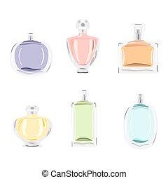 set, flessen, parfum