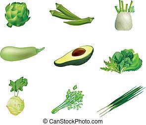 set, groen groenten