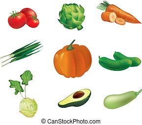 set, groentes