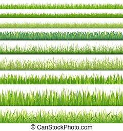 set, groot, grassen