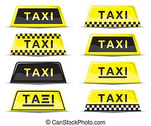 set, meldingsbord, taxi