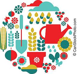 set, organisch, tuin, achtergrond, objects;