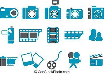 set, pictogram, foto