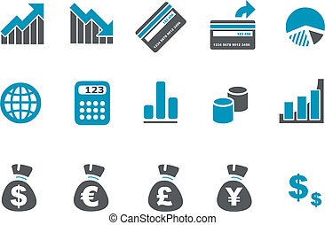 set, pictogram, geld