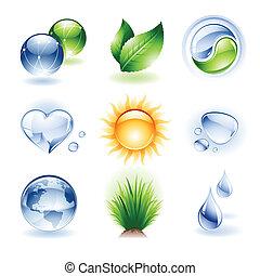 set, -, pictogram, natuur