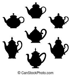 set, teapots