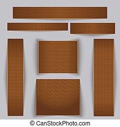 set., textuur, parquet., textured, banieren, esdoorn