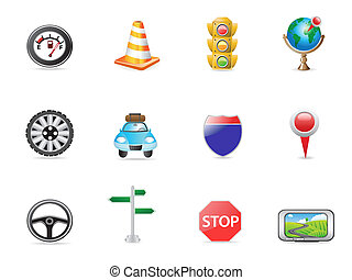 set, verkeer, pictogram