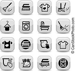 set, was, poetsen, iconen