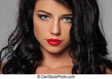 sexy, vrouw, mode, beauty, verticaal