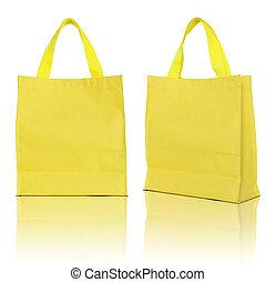 shoppen , achtergrond, zak, gele, witte