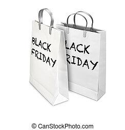 shoppen , friday., luxe, zak, twee, black