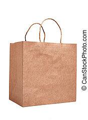 shoppen , gerecyclde, vrijstaand, zak, papier, luxe, witte