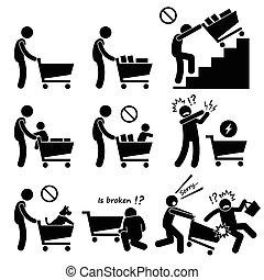 shoppen , gids, kar