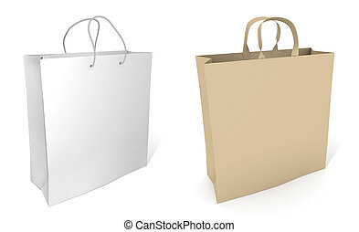shoppen , lege, achtergrond, zak, witte